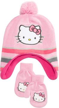Hello Kitty Berkshire 2-Pc. Hat & Mittens Set, Toddler Girls (2T-5T)