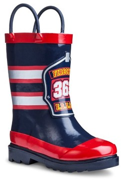Western Chief Toddler Boys' Fireman Rain Boot - Navy