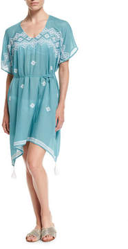 Seafolly Cross-stitch Coverup Caftan Dress, One Size
