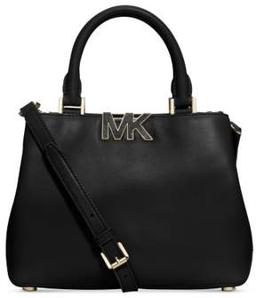 MICHAEL Michael Kors Florence Small Satchel Black Leather New Authentic Bag - BLACK - STYLE