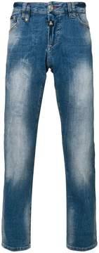 Philipp Plein faded straight leg jeans