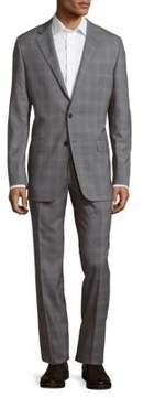 Hickey Freeman Milburn II Series T Slim Fit Plaid Wool Suit