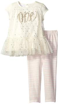 Mud Pie One Tunic and Leggings Set Girl's Active Sets