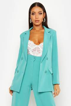 Double Breasted Longline Blazer