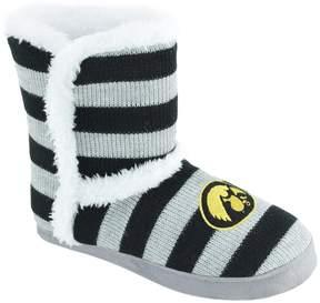 NCAA Women's Iowa Hawkeyes Striped Boot Slippers