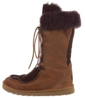 UGG Shearling-Trimmed Suede Boots