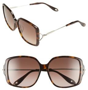 Women's Givenchy 58Mm Square Sunglasses - Dark Havana/ Brown
