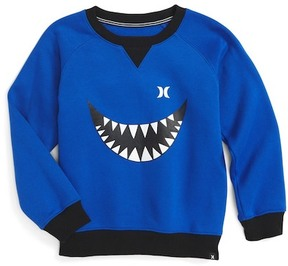 Hurley Monster Graphic Crew Neck Sweatshirt (Big Boys)