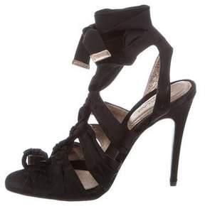 Derek Lam Satin Wrap-Around Sandals