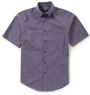Roundtree & Yorke TravelSmart Big & Tall Short-Sleeve Checked Sportshirt