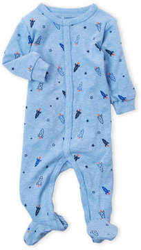Petit Lem Newborn Boys) Rocket Ship Print Footie