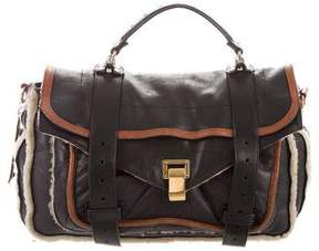 Proenza Schouler Shearling & Leather PS1 Satchel