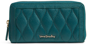 Vera Bradley Forest Green RFID Quilted Georgia Leather Wallet - FOREST - STYLE