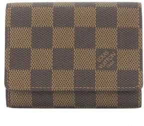 Louis Vuitton Damier Ebene Enveloppe Cartes De Visite Card Case (Pre Owned) - BROWN - STYLE