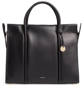 Skagen Katryn Recessed Leather Satchel - Black