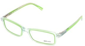 Just Cavalli Jc0531/v 093 Clear/lime Rectangle Optical Frames.