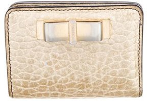 Burberry Metallic Compact Wallet - GOLD - STYLE