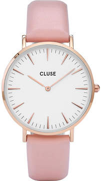 Cluse CL18014 La Bohème stainless steel and leather watch