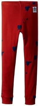 Mini Rodini Heart Rib Leggings Girl's Casual Pants
