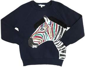 Little Marc Jacobs Zebra Cashmere & Cotton Sweater