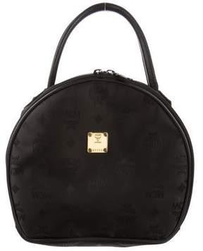 MCM Round Leather-Trim Bag