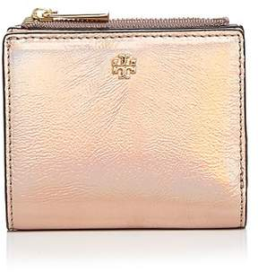 Tory Burch Robinson Metallic Mini Leather Wallet - PINK OPAL/GOLD - STYLE