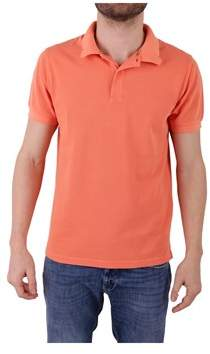 Sun 68 Men's Orange Cotton Polo Shirt.