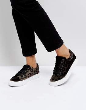 New Look Velvet Leopard Print Sneaker