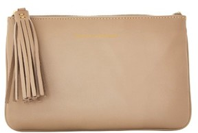 Dooney & Bourke Lambskin Carrington Pouch - TAUPE - STYLE