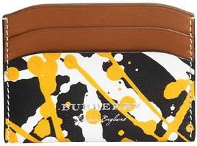 Burberry splash print card case