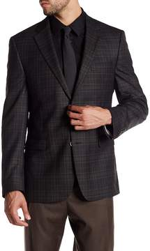Ike Behar Pandora Plaid Two Button Notch Lapel Wool Suit Separates Jacket