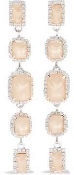 Elizabeth Cole Silver-Tone Swarovski Crystal And Stone Earrings