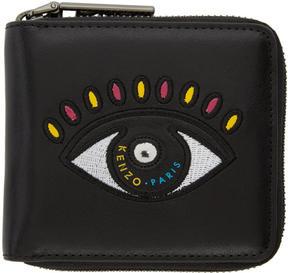 Kenzo Black Square Eye Wallet