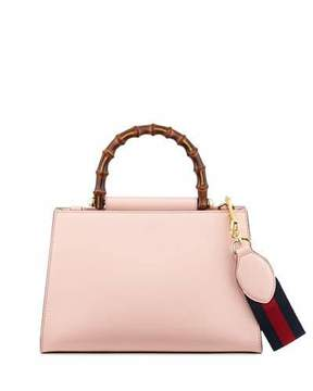 Gucci Nymphea Small Bamboo-Handle Tote Bag, Soft Pink/White - SOFT PINK/WHITE - STYLE