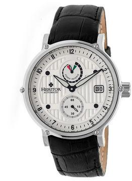 Heritor Leopold Mens Black Strap Watch-Herhr4703