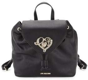 Love Moschino Faux Leather Drawstring Backpack