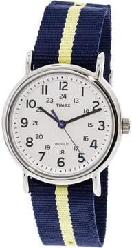 Timex Men's Weekender T2P142 Blue Nylon Analog Quartz Fashion Watch