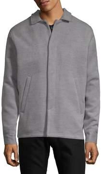Publish Men's Spread Collar Heathered Jacket