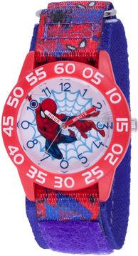 Marvel Spiderman Boys Blue Strap Watch-Wma000190