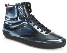 Bally Etra Brushed Leather High-Top Sneakers