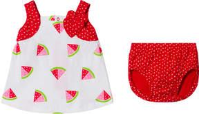 Agatha Ruiz De La Prada Red And White Watermelon Print Dress And Bloomers