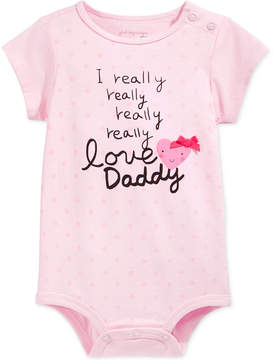 First Impressions Baby Girls' Love Daddy Bodysuit, Created for Macy's