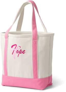 Lands' End Lands'end Pink Thread Medium Open Top Canvas Tote Bag