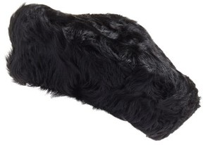 Eric Javits Women's Persian Genuine Shearling Beret - Black