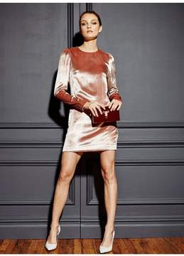 Fleur Du Mal | Long Sleeve Mini Dress | L | Metallic