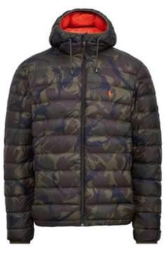 Ralph Lauren Packable Hooded Down Jacket Vintage Olive Camo S