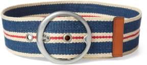 Polo Ralph Lauren | Striped Webbed Wide Belt | L | Navy multi
