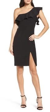 Bardot Women's One-Shoulder Ruffle Sheath Dress