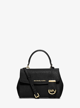 Michael Kors Ava Extra-Small Saffiano Leather Crossbody - BLACK - STYLE