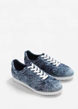 MANGO Velvet sneakers